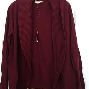 Banana Republic Red Wool Cardigan